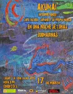 Noche de Lunas Submarinas por Akumal